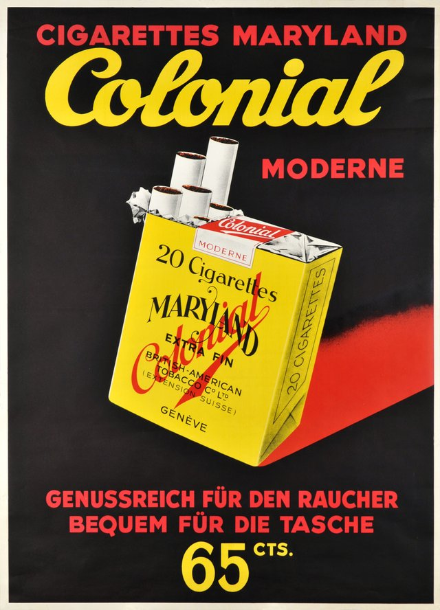 Cigarettes Maryland Colonial Moderne, 65cts