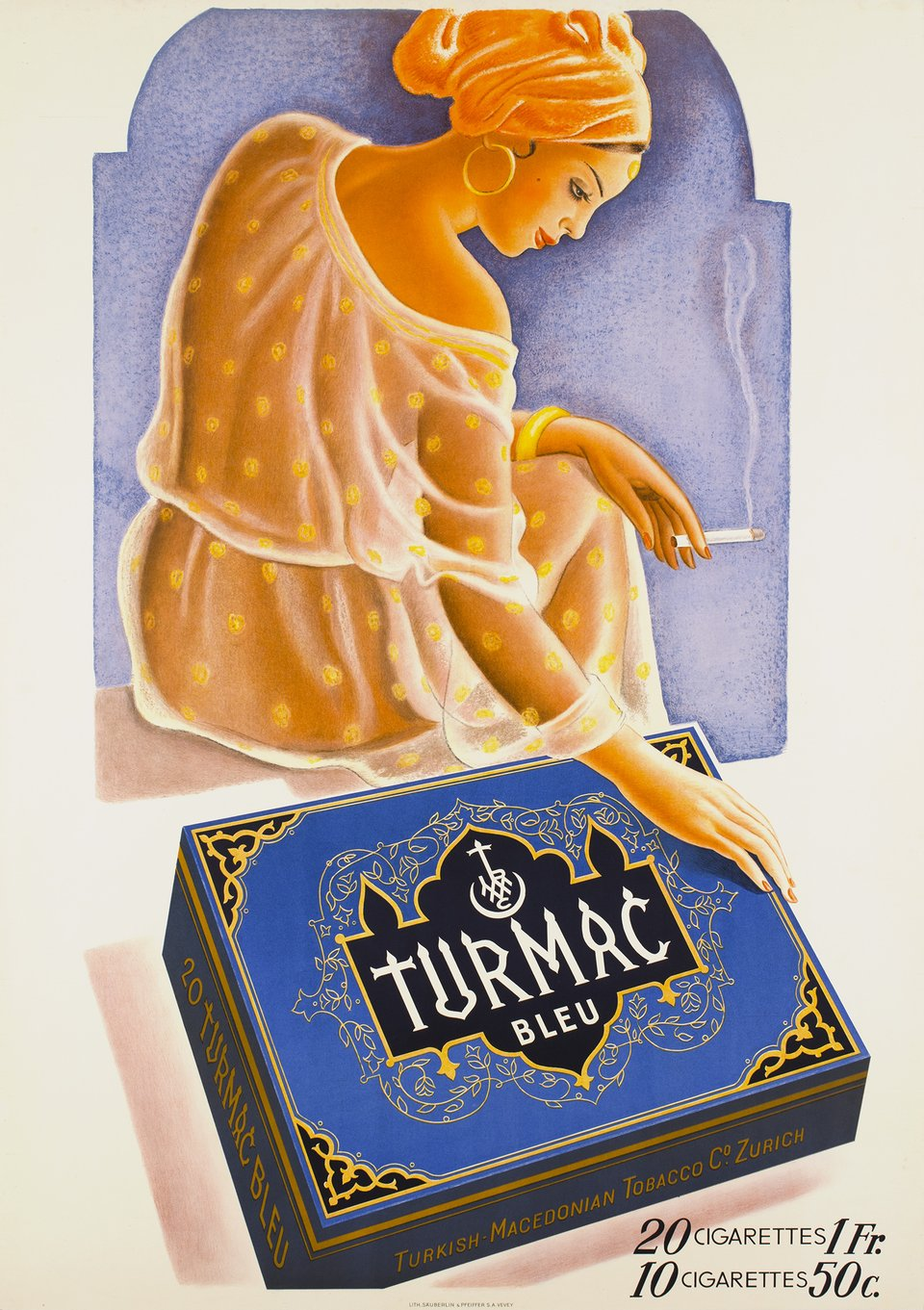 Cigarettes Turmac – Vintage poster –  ANONYME – 1935