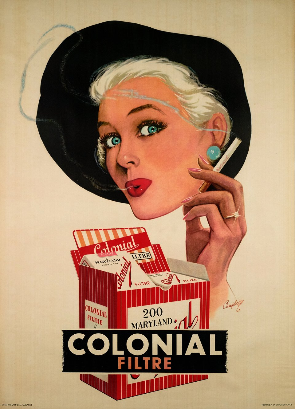 Colonial filtre – Vintage poster – Marcus CAMPBELL – 1955