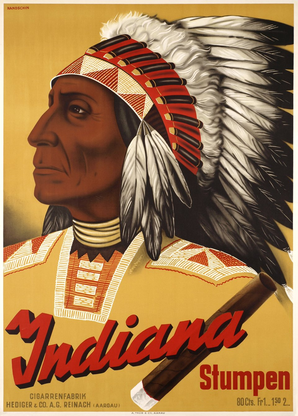 Indiana Stumpen – Affiche ancienne – Hans HANDSCHIN – 1930