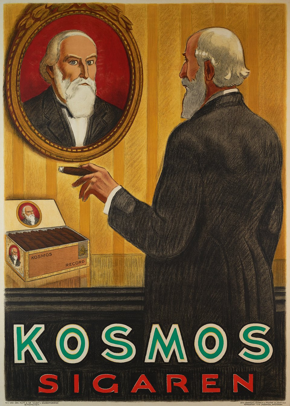 Kosmos sigaren – Affiche ancienne – ANONYMOUS – 1930