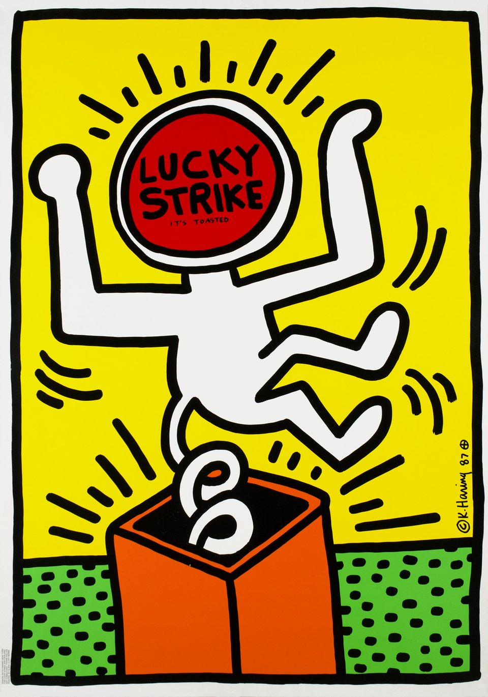 Lucky Strike – Affiche ancienne – Keith HARING – 1987