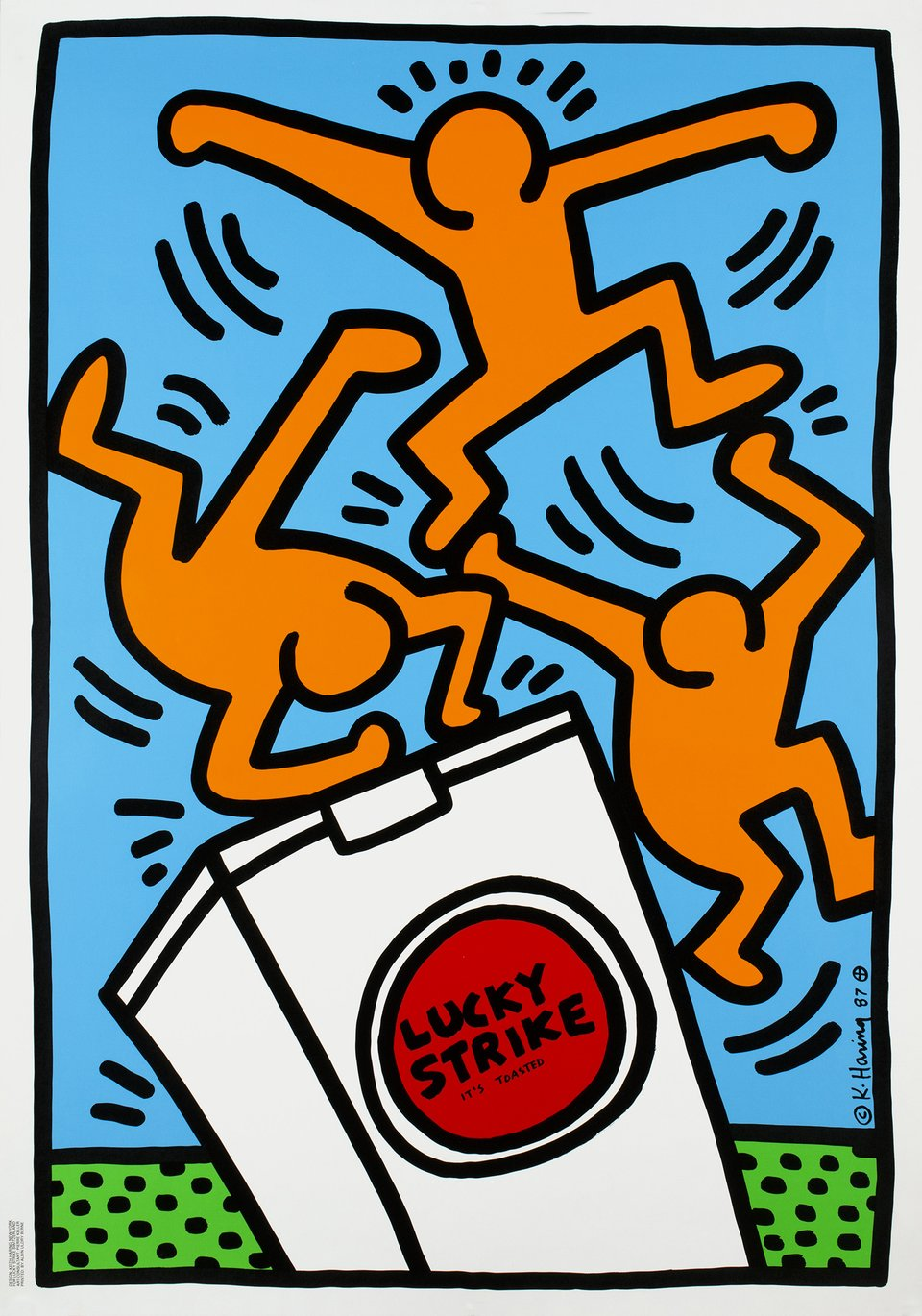 Lucky Strike – Vintage poster – Keith HARING – 1987
