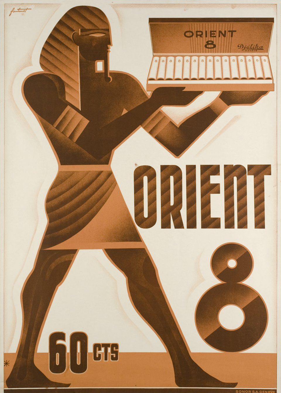 Orient 8 - 60 cts – Vintage poster – Noel FONTANET – 1930
