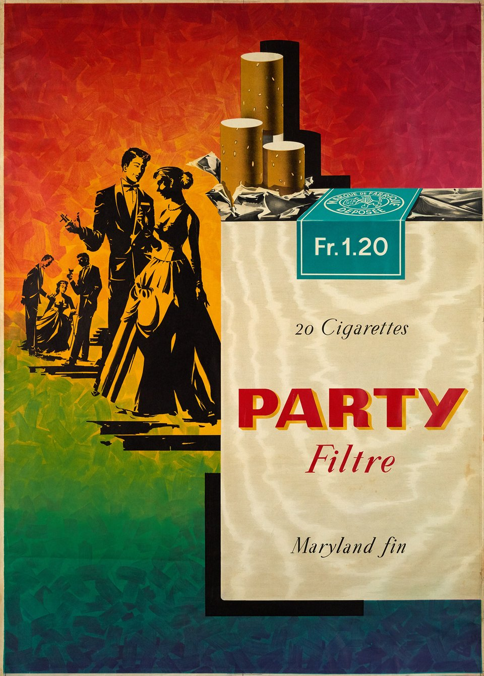 Party Filtre, Maryland fin – Affiche ancienne – Pierre GILLIOZ – 1953