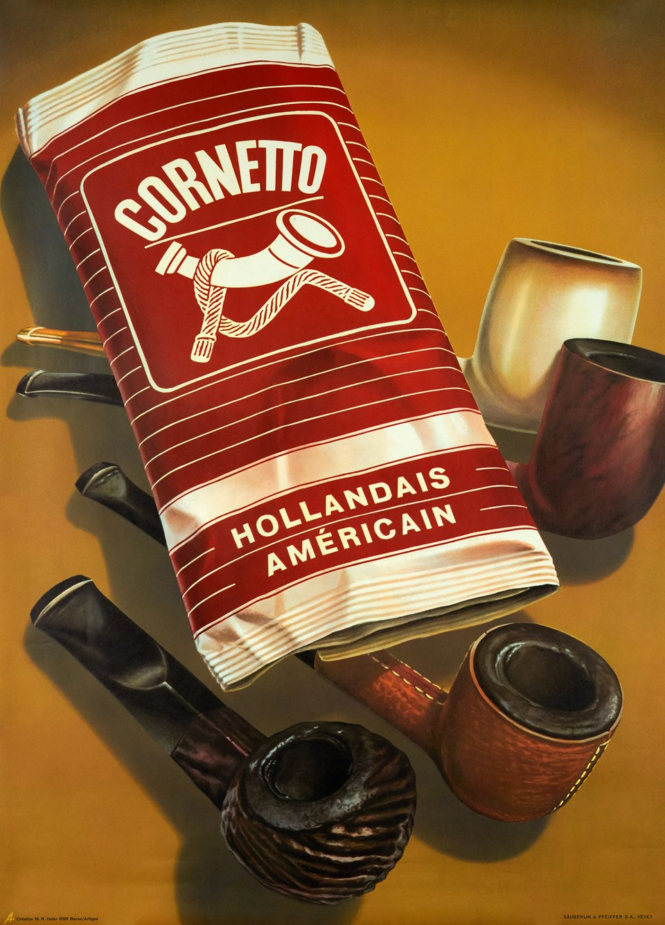 Tabac Cornetto – Vintage poster – ANONYMOUS – 1950