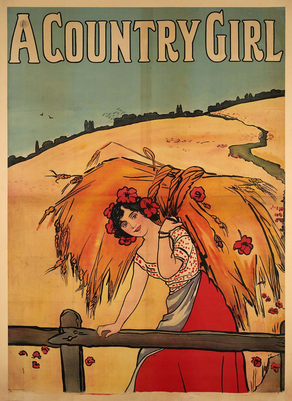 A Country Girl – Affiche ancienne – ANONYMOUS – 1900