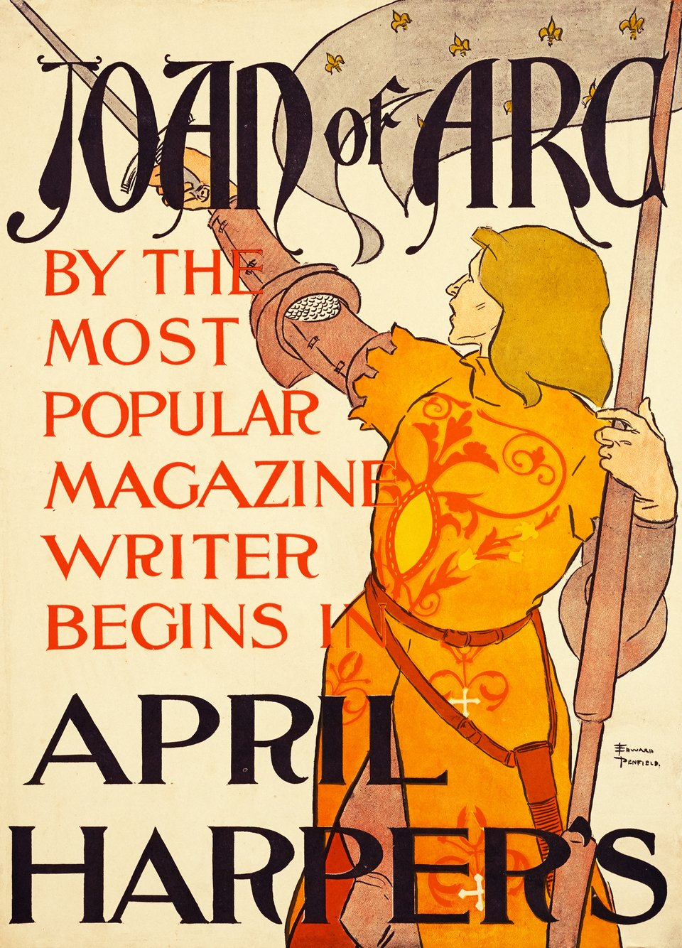 April Harper's, Joan of Arc – Vintage poster – Edward PENFIELD – 1895