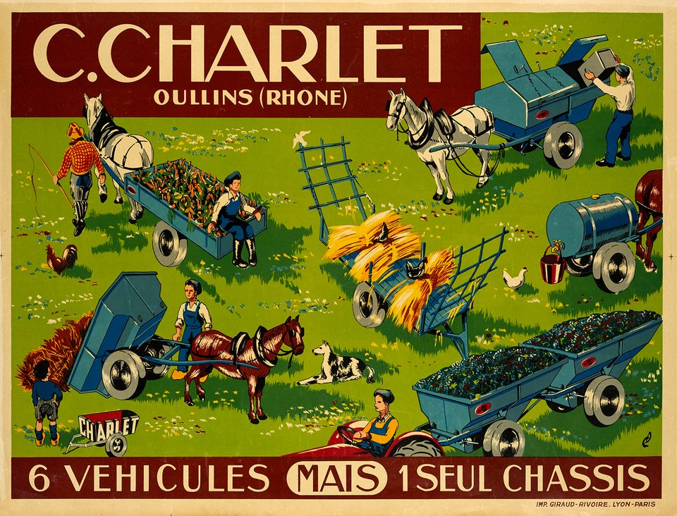 C.Charlet, 6 véhicules mais 1 seul chassis – Vintage poster –  MONOGRAMM – 1935
