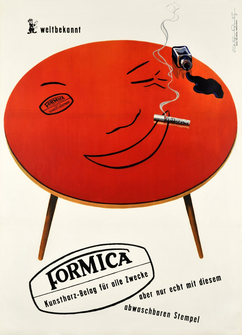 Formica – Affiche ancienne – Victor RUTZ – 1950