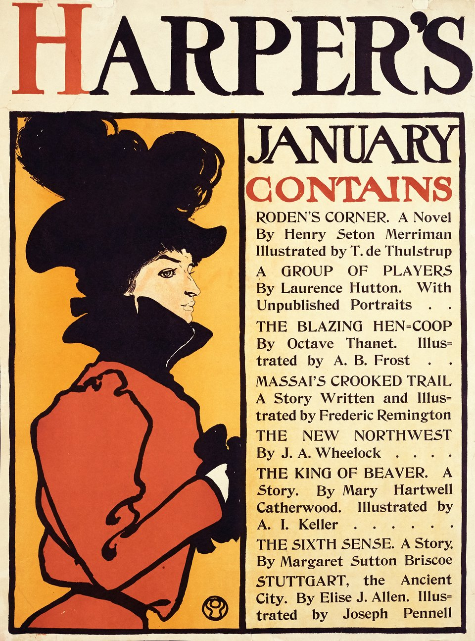 Harper's, January contains – Affiche ancienne – Edward PENFIELD – 1898