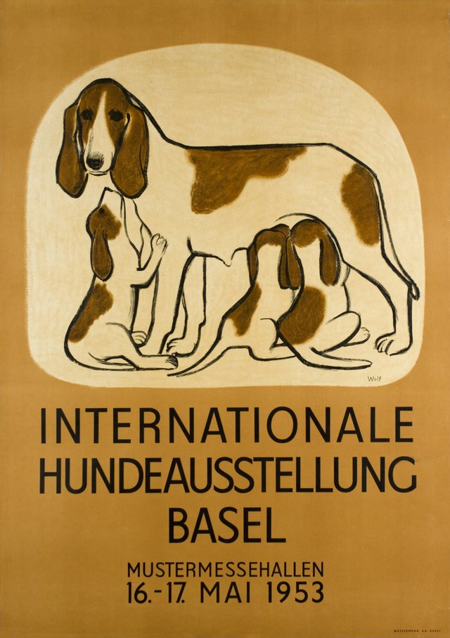 Internationale Hundeausstellung, Mustermessehallen Basel 1953