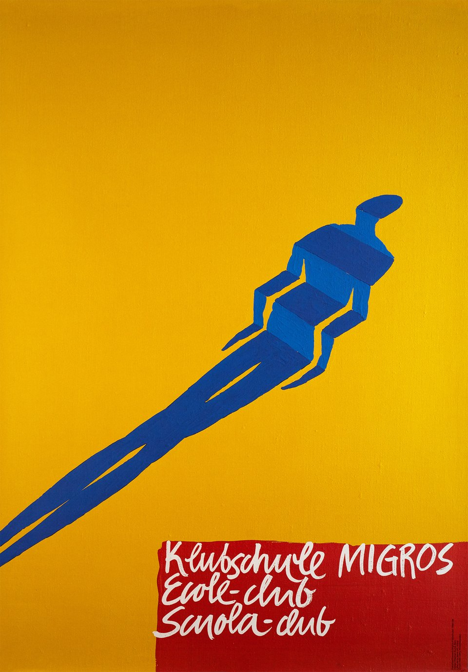 Klubschule. Ecole-Club, Scuolaclub, Migros – Vintage poster – Stephan BUNDI – 1988