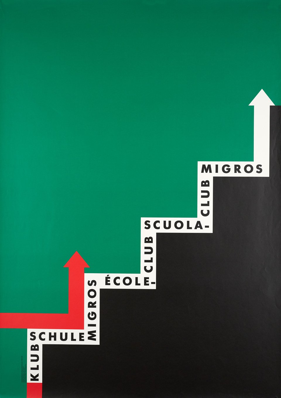 Klubschule Migros, Ecole-Club, Scuola-Club Migros – Affiche ancienne – RosMarie TISSI – 1988