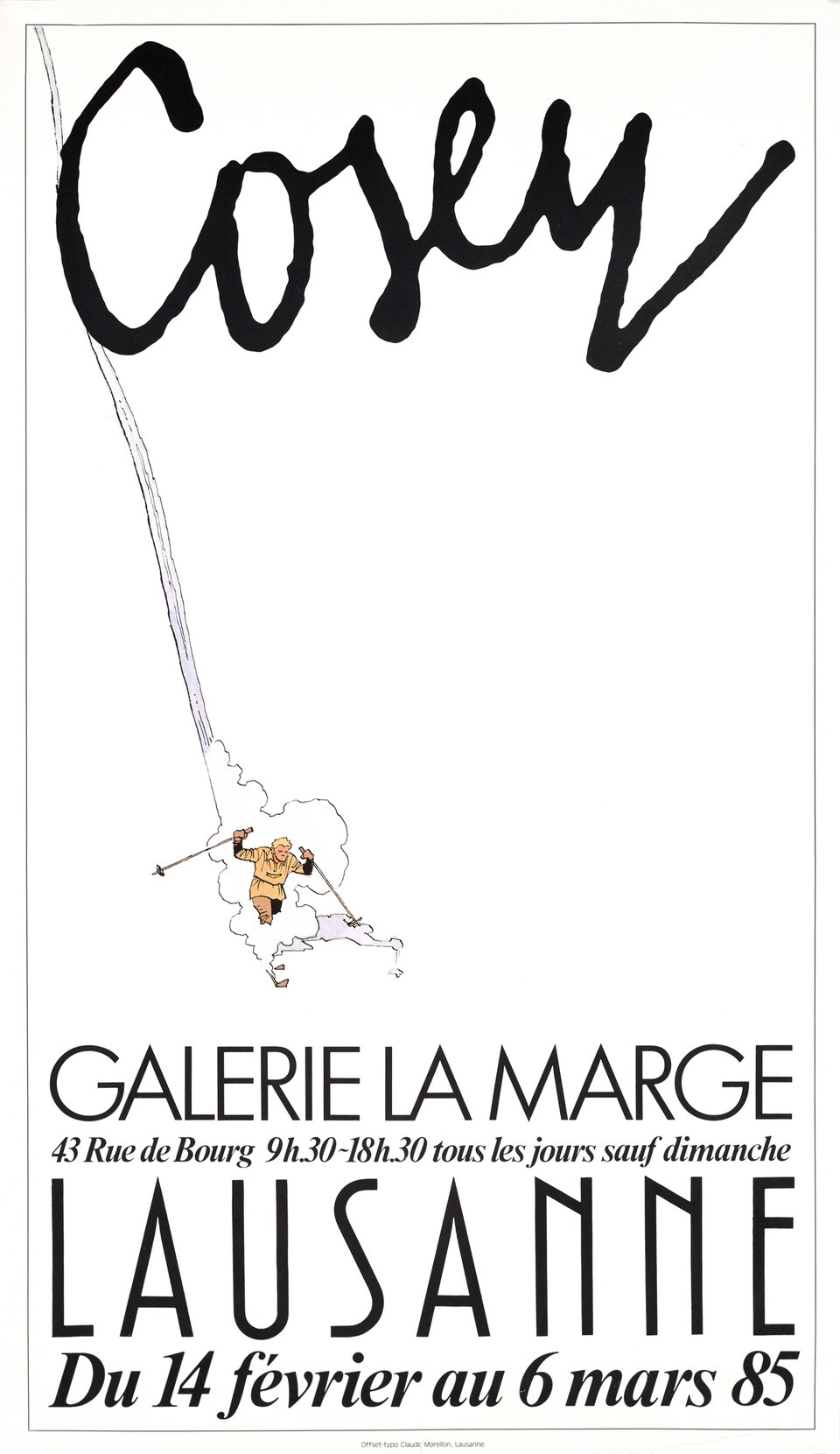 La Marge, Cosey – Vintage poster – COSEY – 1985