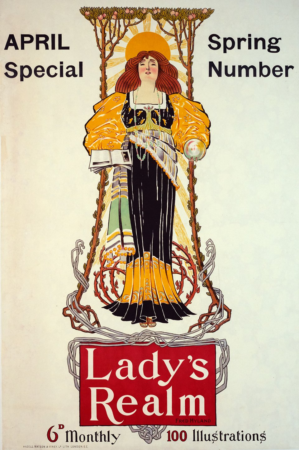 Lady's Realm – Vintage poster – Fred HYLAND – 1900