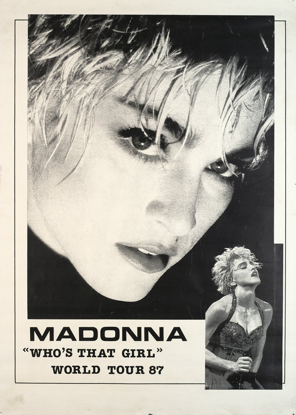 "Madonna, ""Who's that girl"" World Tour 87 – Vintage poster – ANONYME – 1987"