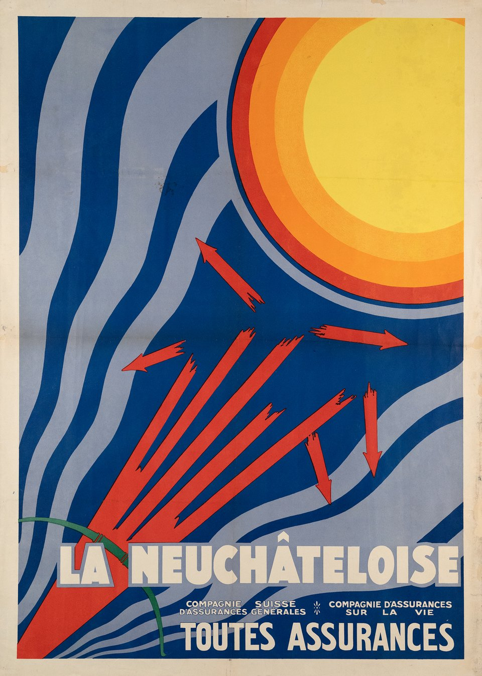 Neuchâteloise Assurance – Vintage poster – ANONYME – 1930
