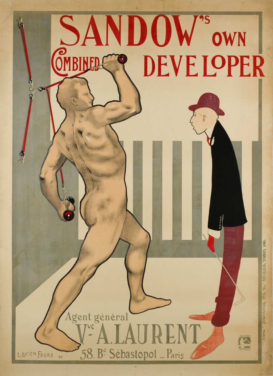 Sandow's own combined developer – Vintage poster – Louis Lucien FAURE – 1899