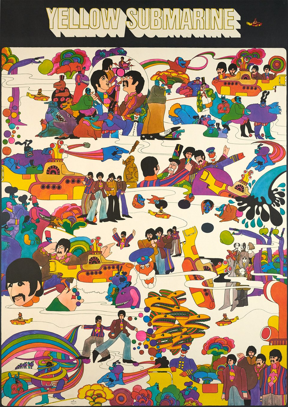 The Beatles, Yellow Submarine – Affiche ancienne –  ANONYME – 1969