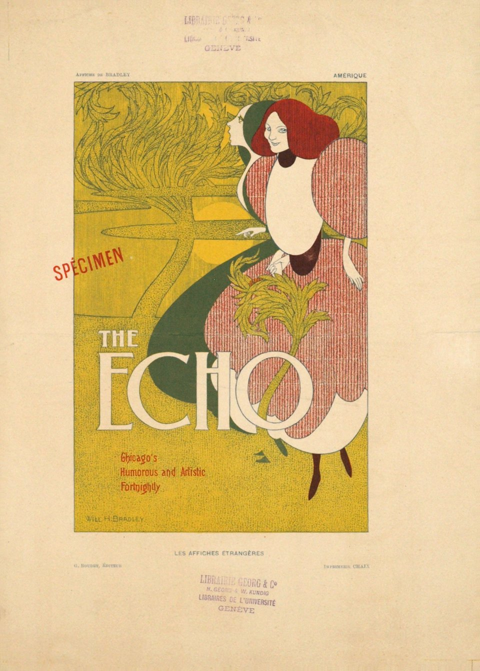 The Echo – Vintage poster – Will H. BRADLEY – 1895