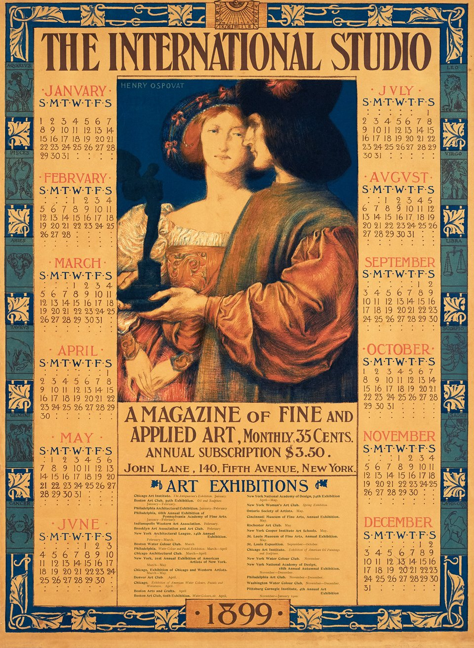 The International Studio 1899 – Vintage poster – Henry OSPOVAT – 1899