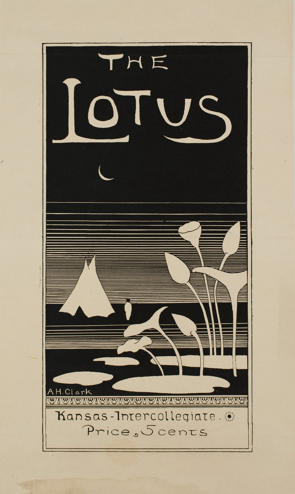 The Lotus, Kansas Intercollegiate – Vintage poster – A.H. CLARK – 1900