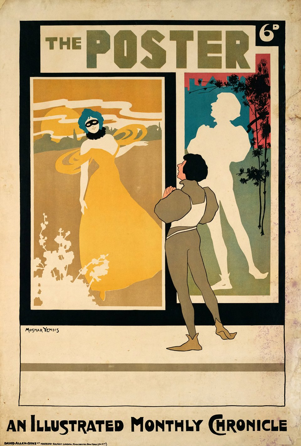 The Poster, an illustrated monthly chronicle – Vintage poster – Mosnar YENDIS – 1899