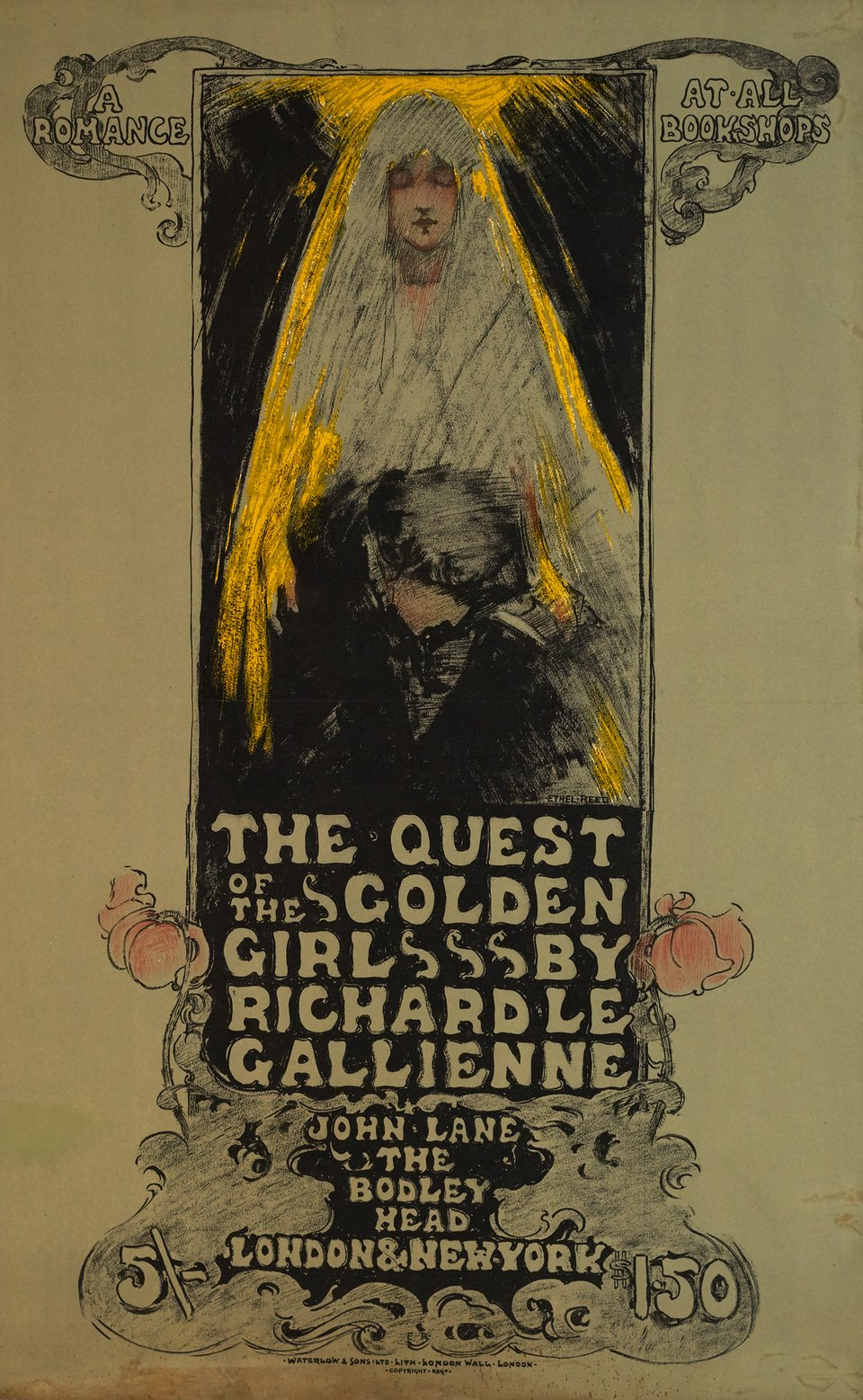 The Quest of the Golden Girl – Vintage poster – Ethel REED – 1896