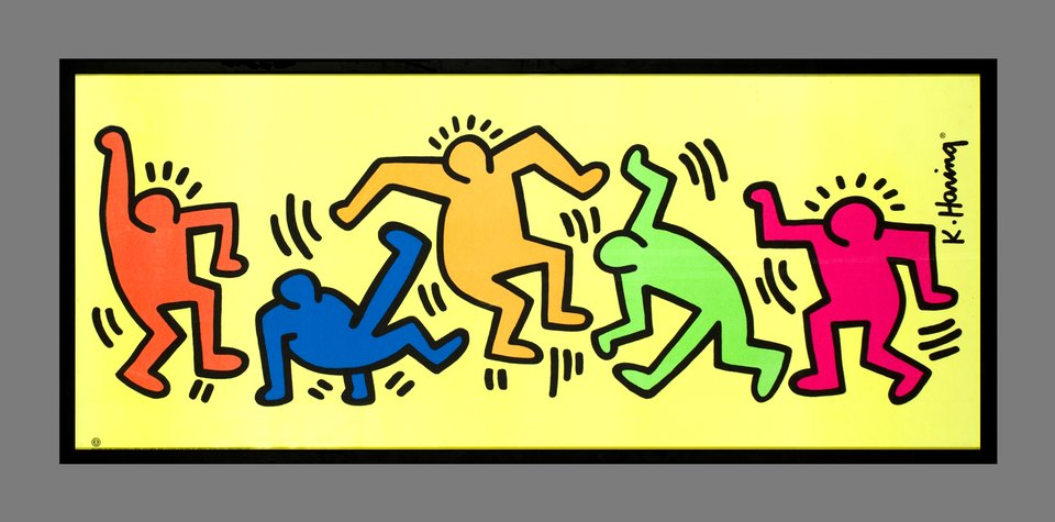 Dancers, decorative poster – Vintage poster – Keith HARING – 1992