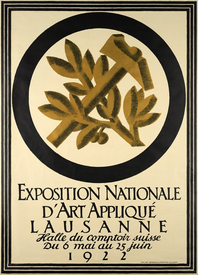 Exposition nationale d'Art Appliqué, Lausanne 1922