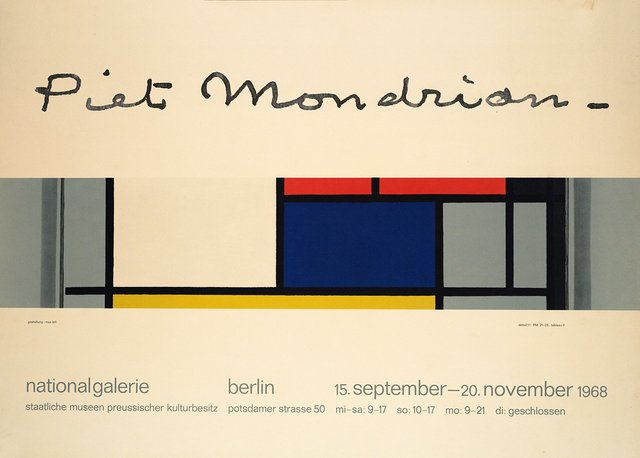 Exposition Piet Mondrian à la National Galerie, Berlin
