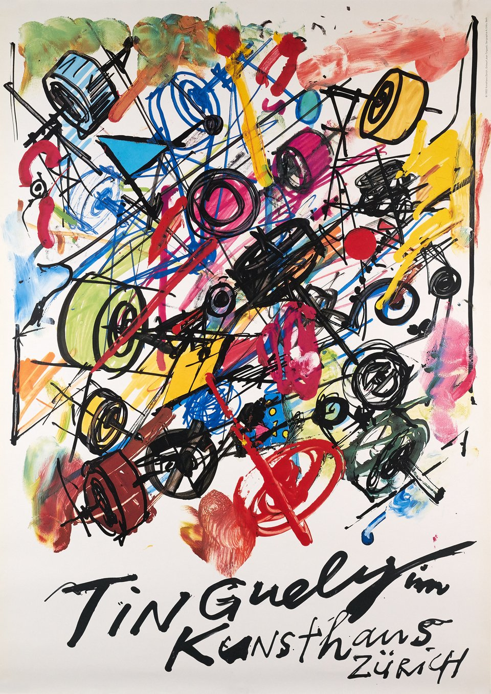 Tinguely im Kunsthaus Zürich – Vintage poster – Jean TINGUELY – 1982