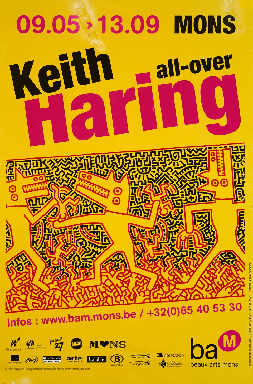 Keith Haring, All-Over – Vintage poster – Keith HARING – 2009