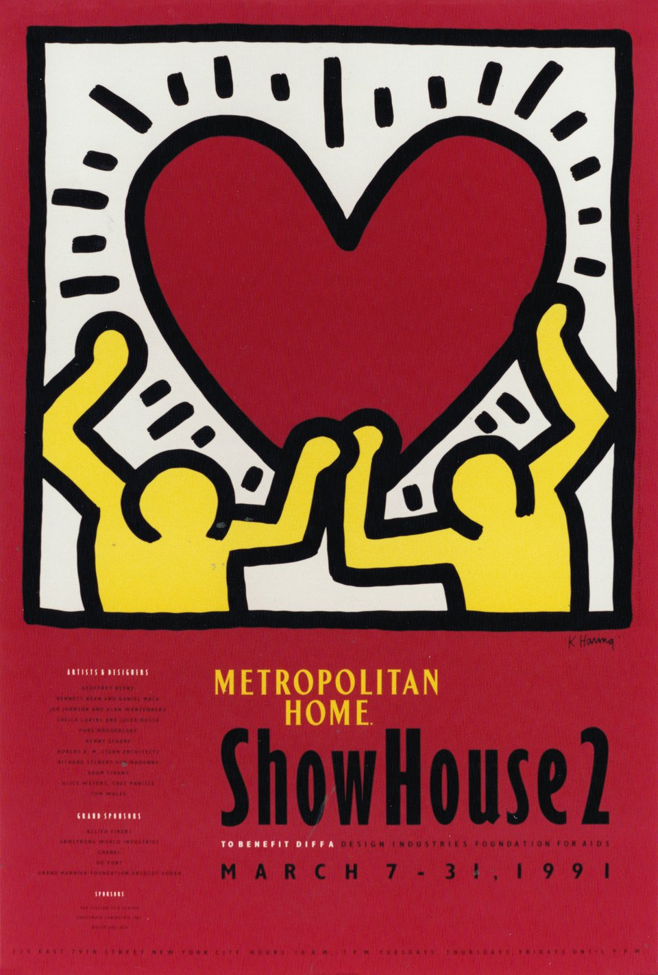ShowHouse 2 – Vintage poster – Keith HARING – 1991