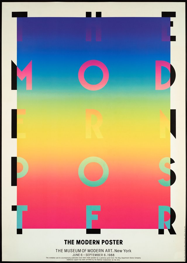 The modern poster, the Museum of Modern Art, New York