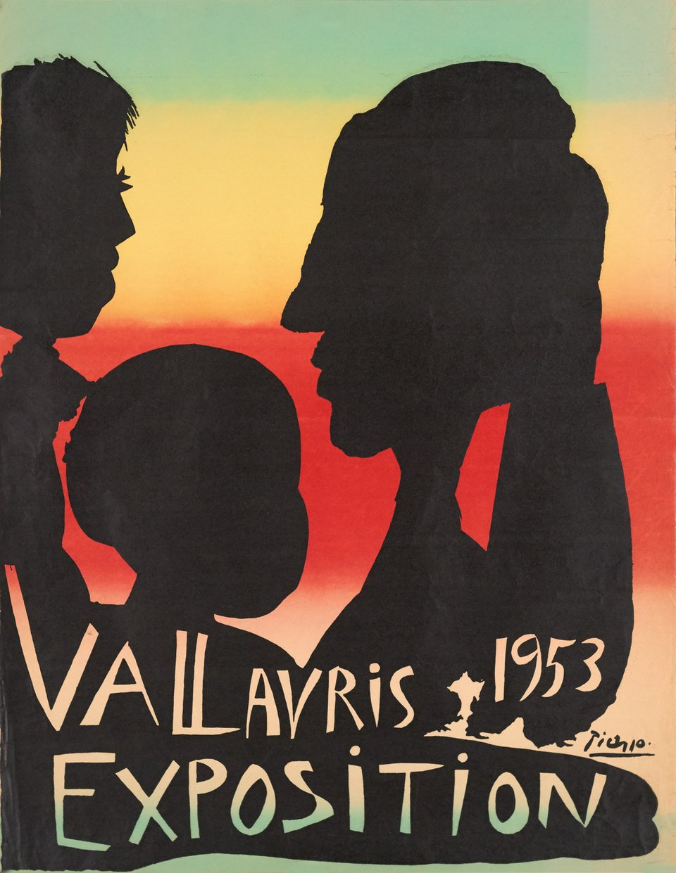 Vallauris, Exposition – Vintage poster – Pablo PICASSO – 1953
