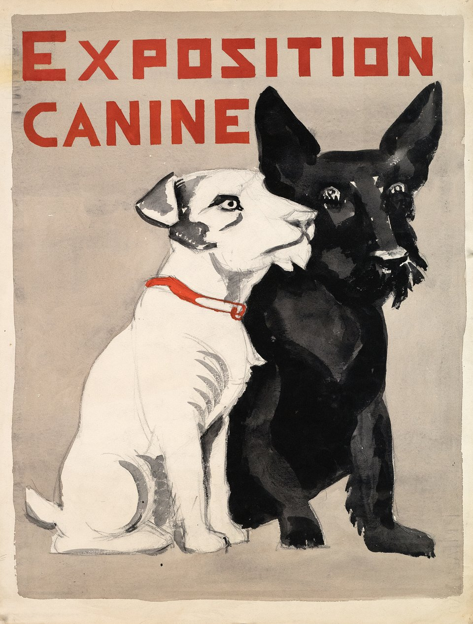 Exposition Canine, Maquette – Vintage poster – ANONYME – 1950