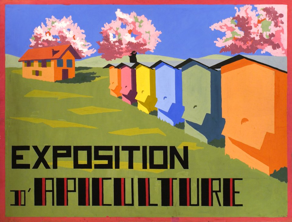Exposition d'apiculture – Vintage poster – R MULLER – 1928