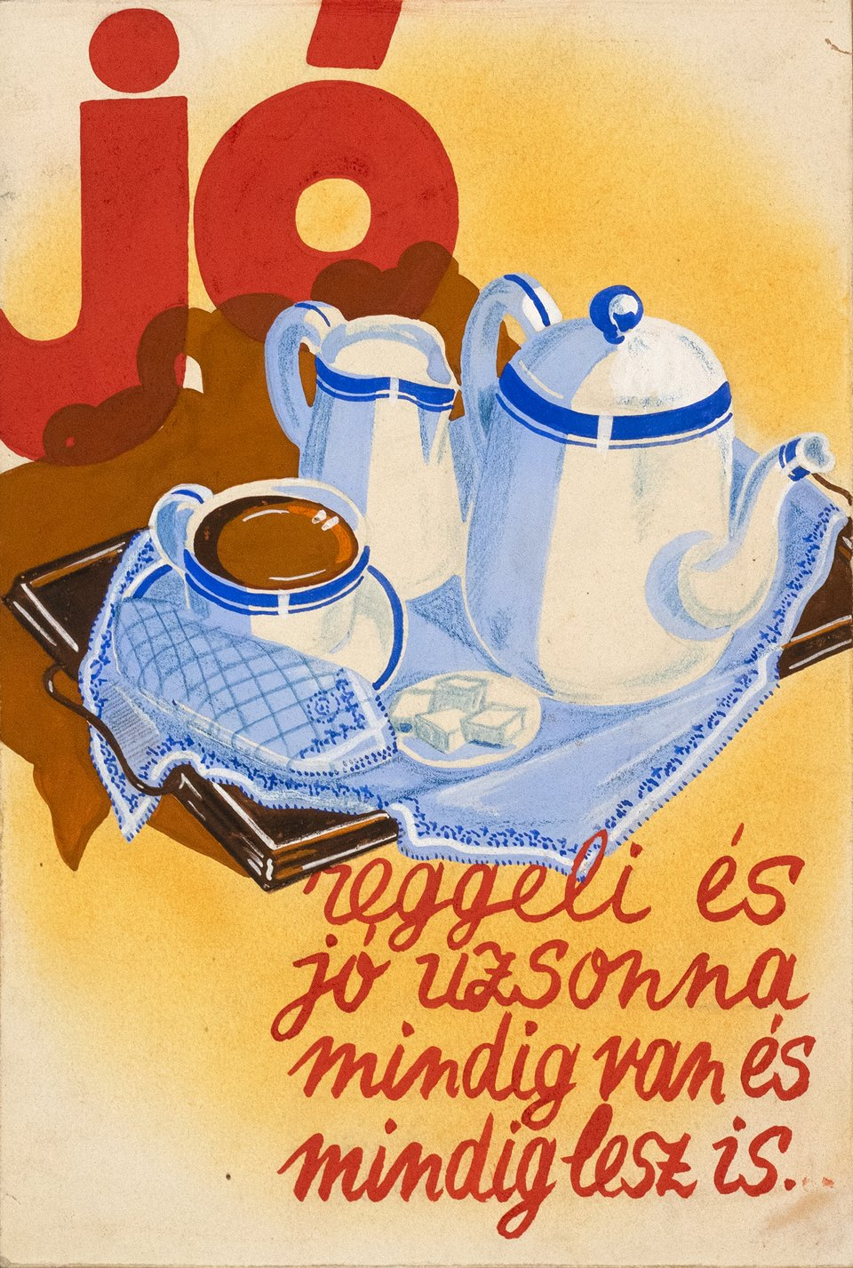 Jó coffee – Affiche ancienne – ANONYME – 1950