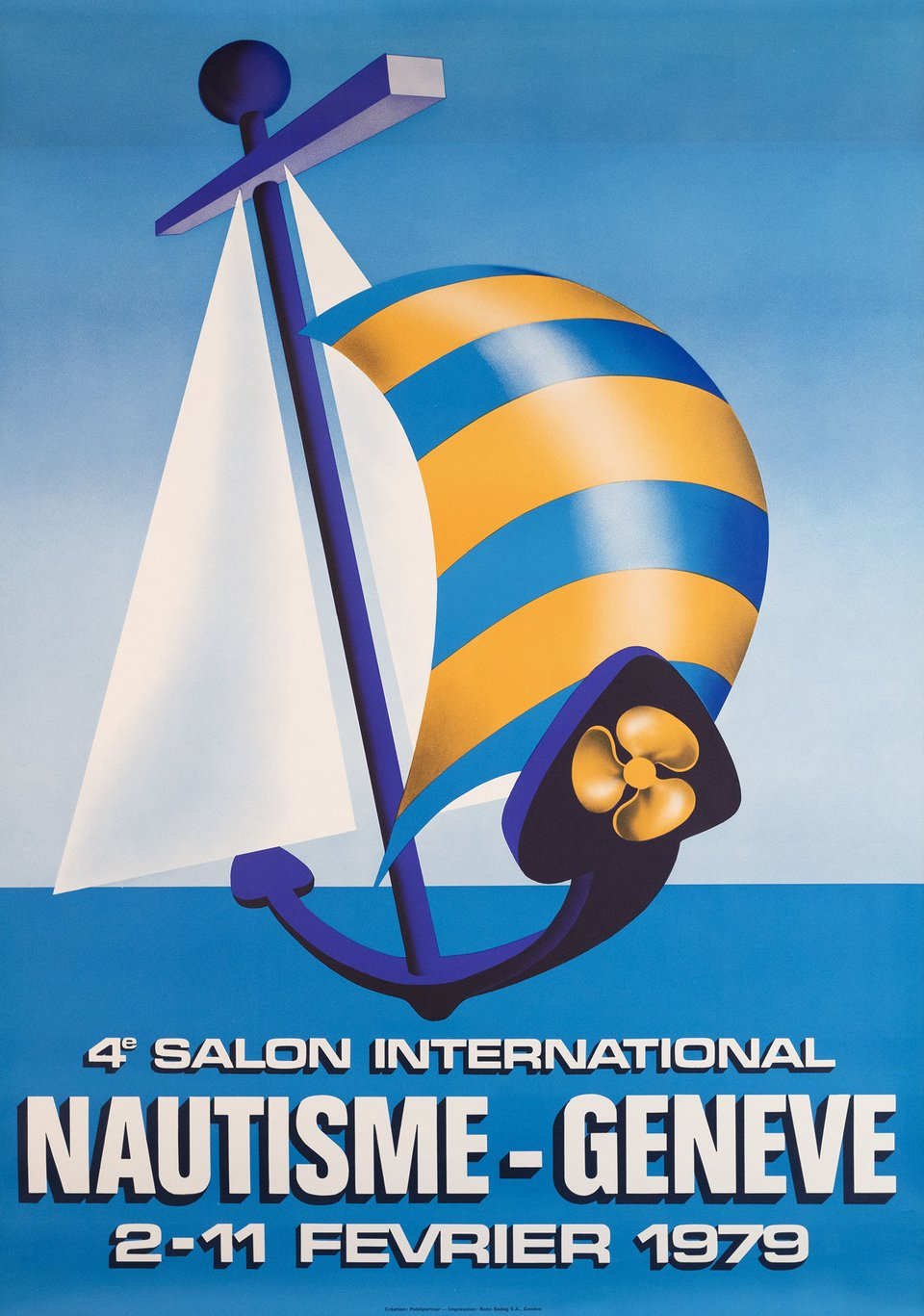 4. Salon International Nautisme, Genève – Vintage poster – PUBLIPARTNER – 1979