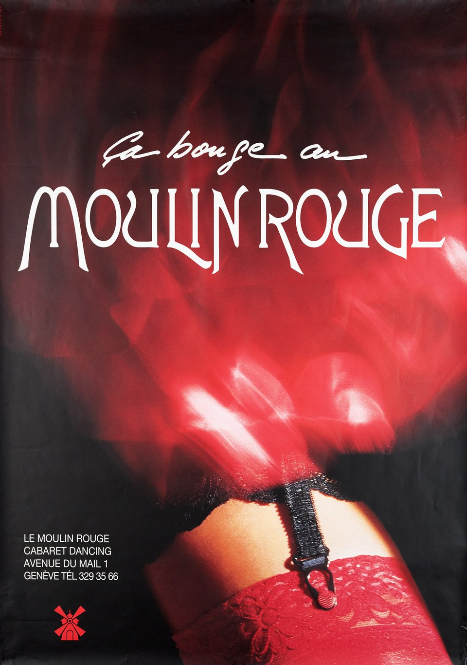 Ca bouge au Moulin Rouge – Vintage poster –  ANONYME – 2003