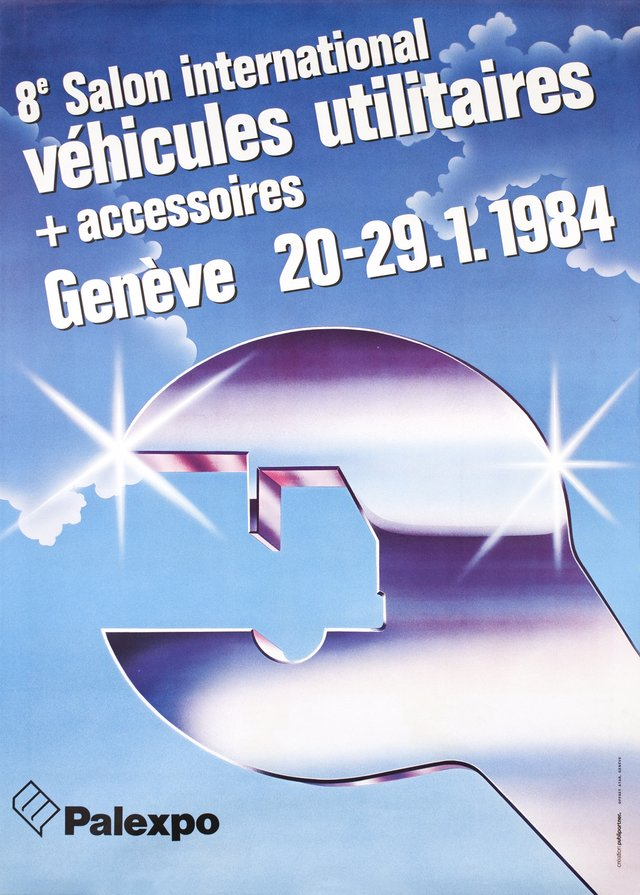 Vintage poster gen ve 44 me salon international de l for Salon international