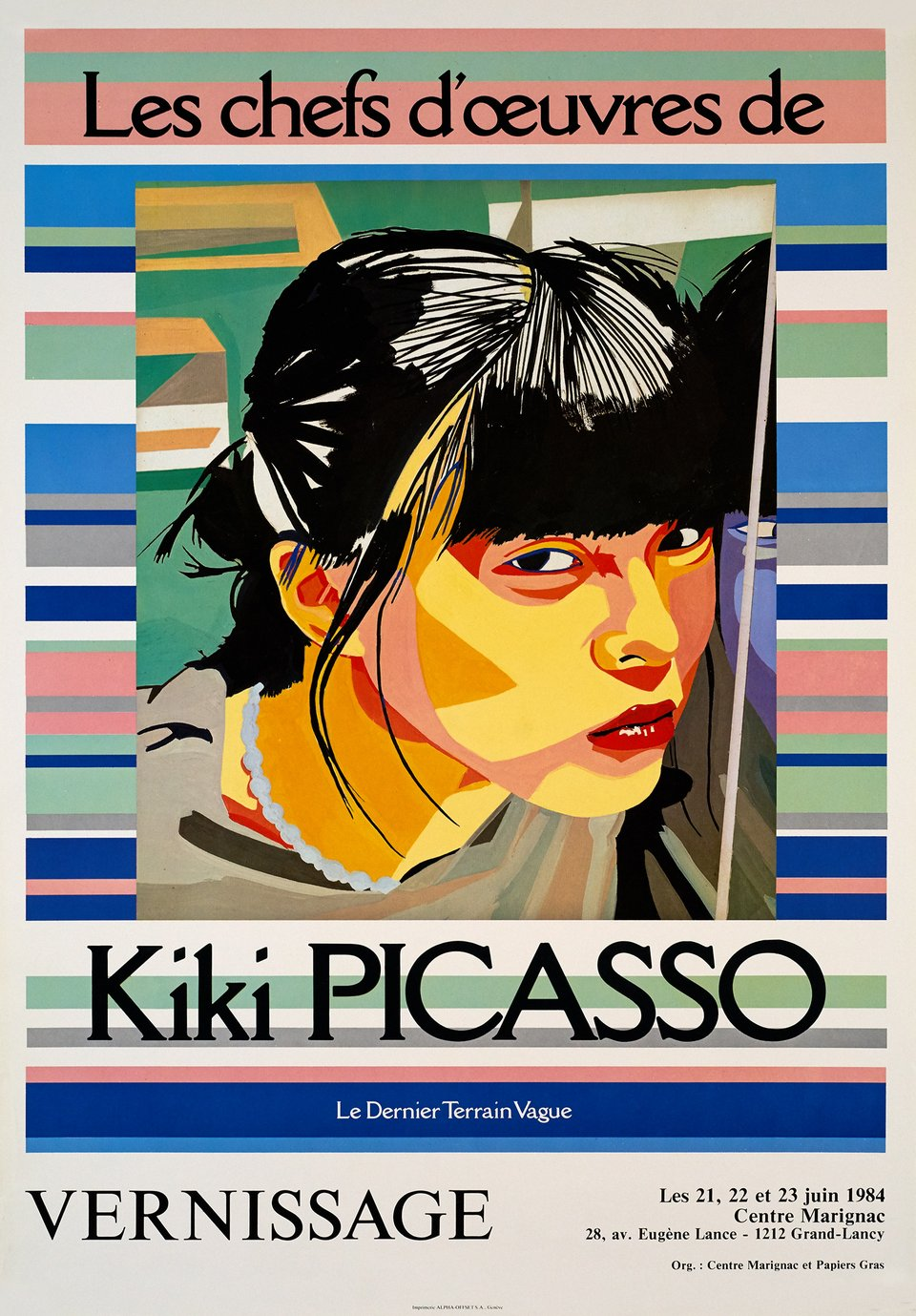 Kiki Picasso, Les chefs d'oeuvres – Affiche ancienne – Kiki PICASSO – 1984