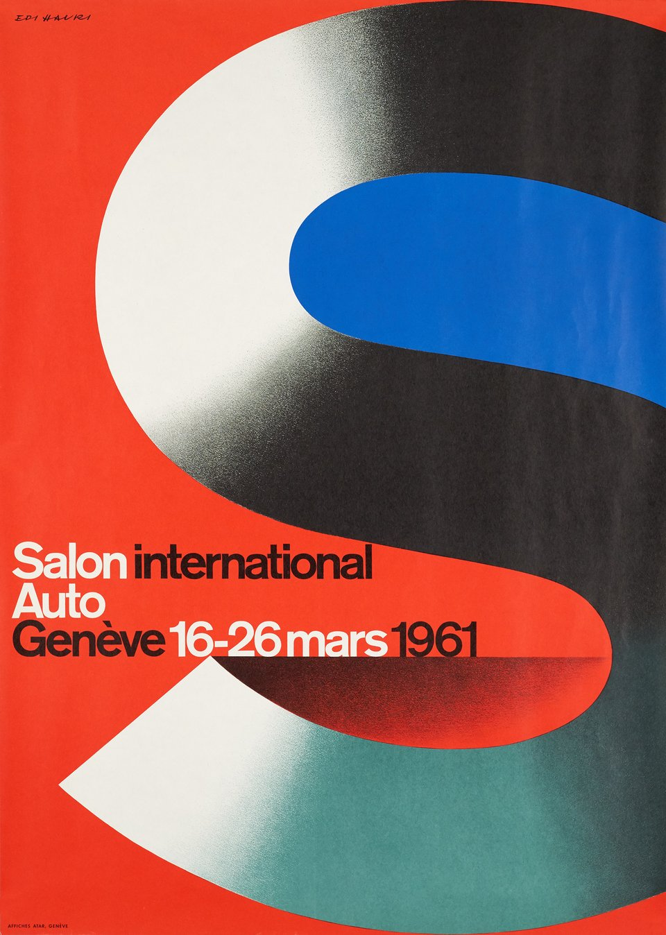 Salon international de l'automobile – Vintage poster – Edi HAURI – 1961