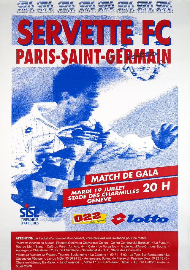 Servette FC Paris-Saint-Germain, Match de Gala