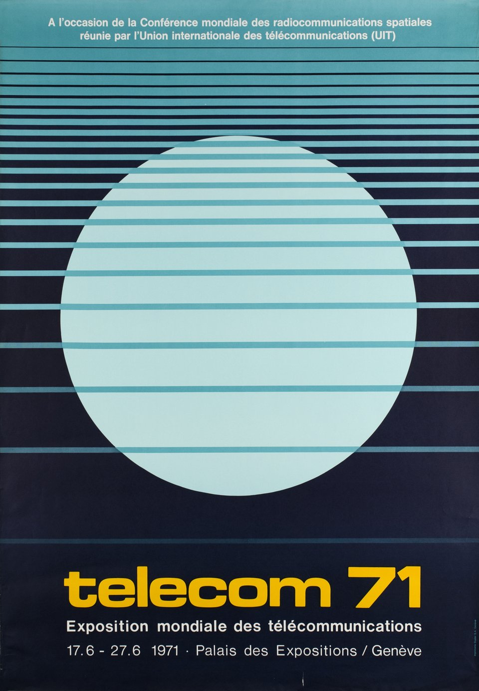 Telecom 71 – Vintage poster –  ANONYME – 1971