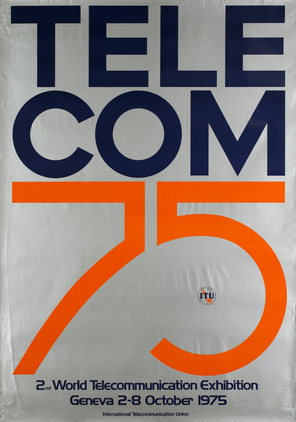 Telecom 75 – Vintage poster –  ANONYME – 1975