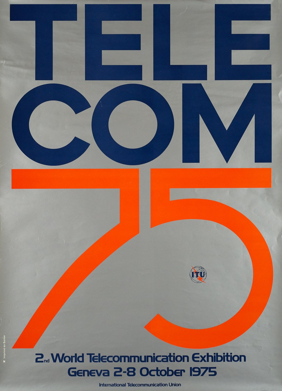 Telecom 75 – Affiche ancienne –  ANONYME – 1975
