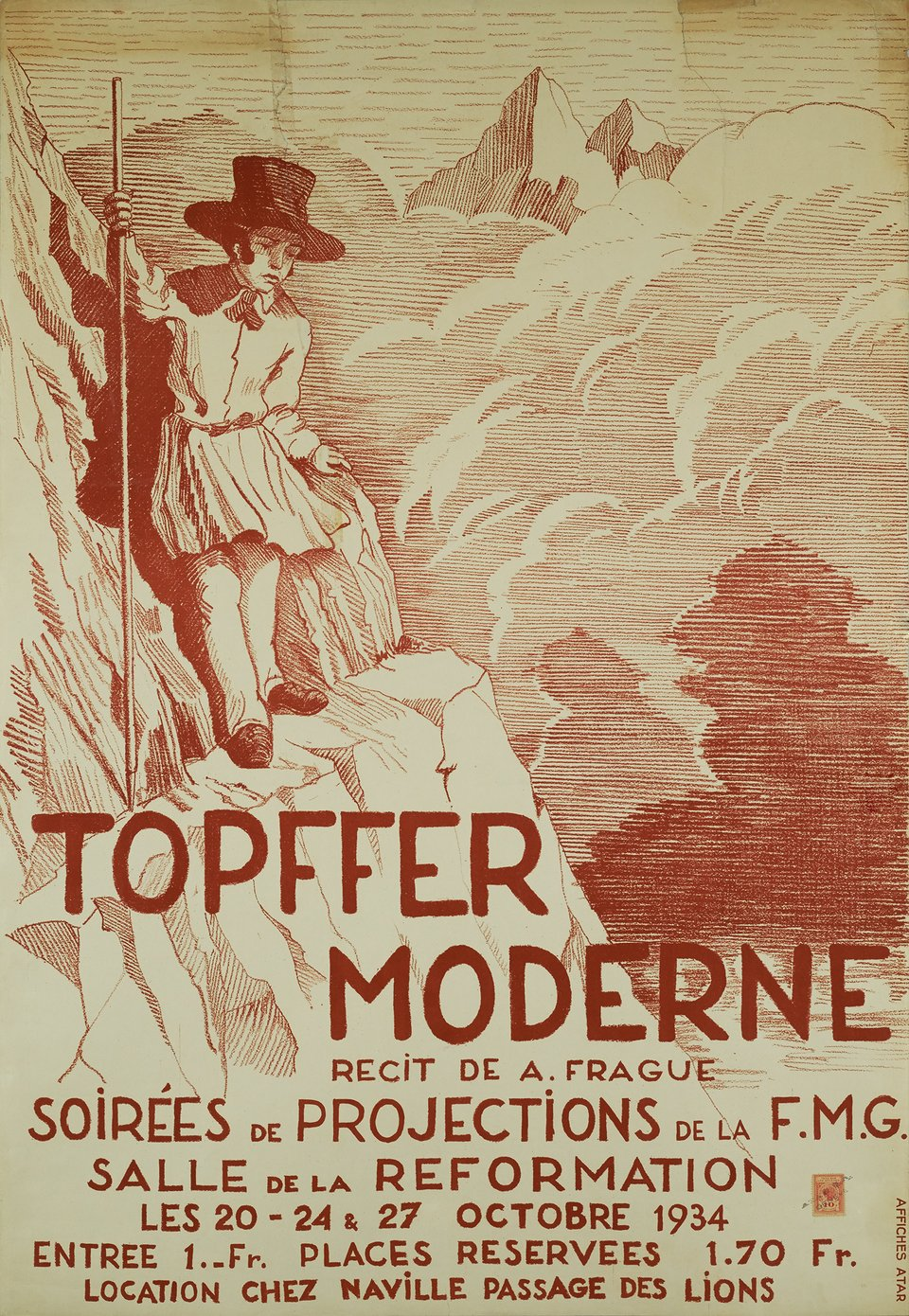 Topffer Moderne – Affiche ancienne – ANONYME – 1934